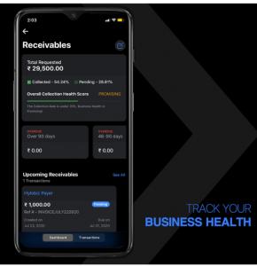 receivables mobile app_business_health
